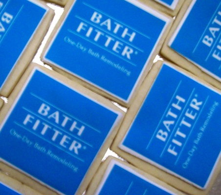 Bath Fitter Logo Cookies